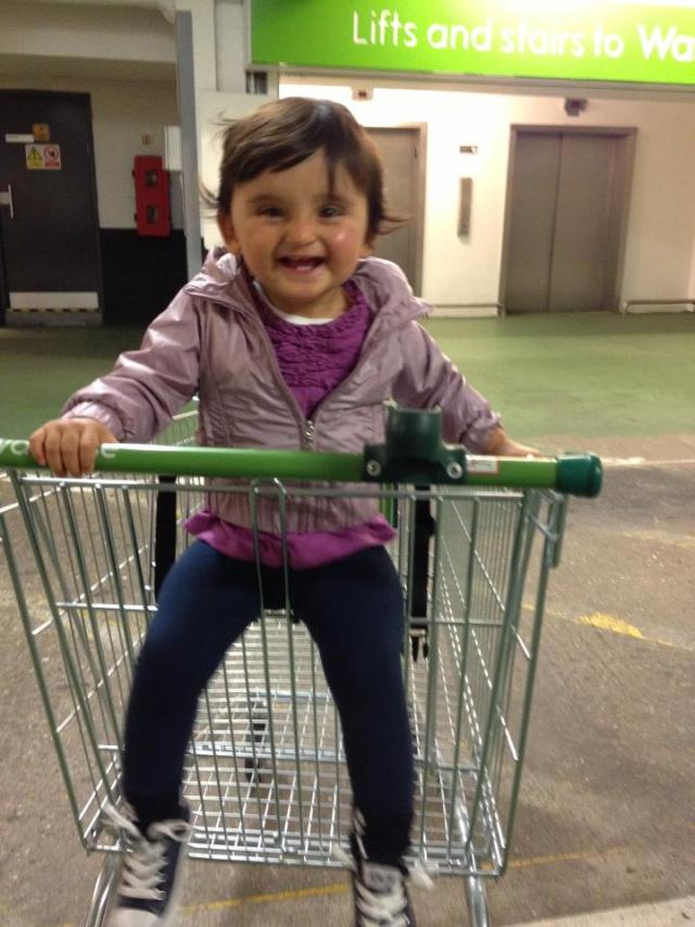I'm not the only one in the family who loves supermarkets...