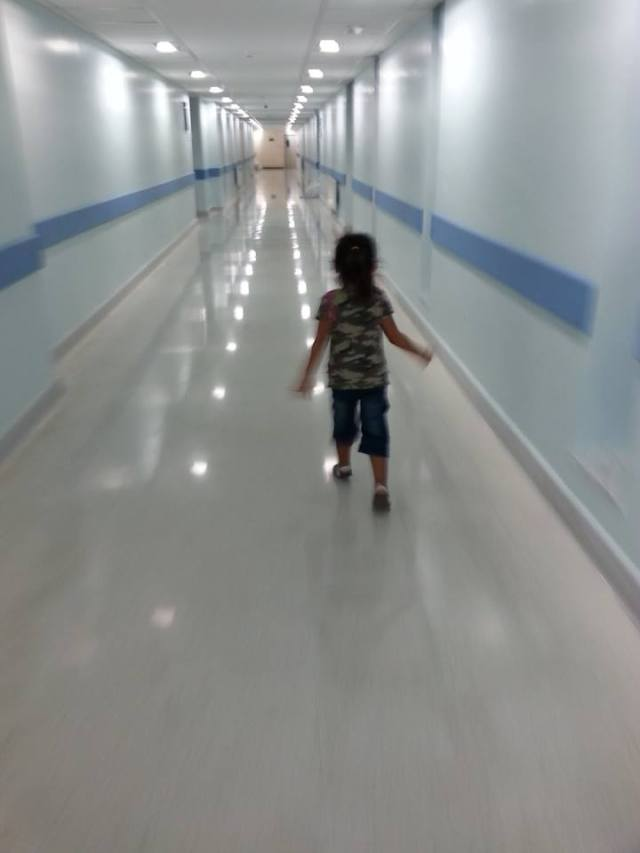 A favourite shot captured by Auntie Ver. Running to meet her little sister :)